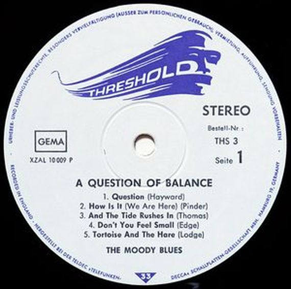 The Moody Blues  A Question Of Balance